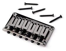 Fender® Hardtail Black Nickel Bridge~Strat~Tele~Hardware~0062381000~Brand New