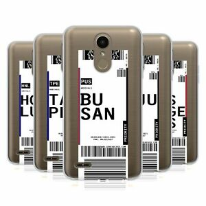 HEAD CASE DESIGNS LUGGAGE TAGS 3 SOFT GEL CASE & WALLPAPER FOR LG PHONES 1