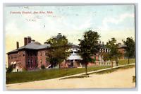 Vintage View of University Hospital Ann Arbor MI 1911 Postcard