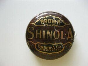 Vintage Metal Tin Brown Shinola Shoe Polish Container
