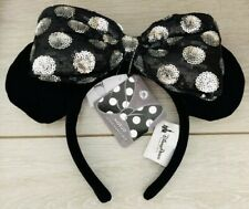 Serre-tête / Headband NOEUD INTERCHANGEABLE SYB MINNIE NOIR DisneyParks