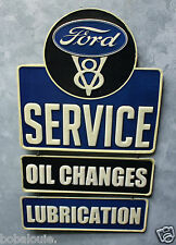 Ford Service Oil change Embossed Metal signs 150 gas pump pick up vintage look