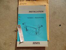 VOLVO PENTA Ventilation Sound Proofing Installation Manual OEM