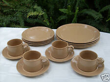 RARE Retro 1970s MIKASA Japan Bob Van Allen SUEDE (GX825) Pottery Dinner Set VG