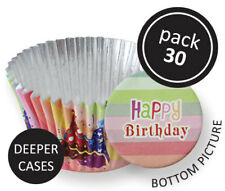 PME 30pk Party Hats Foil Standard Cupcake Cup Cake Muffin Party Baking Cases
