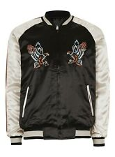 Topman Freedom Santa Cruz embroidered Size M bomber jacket reversible design