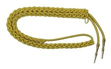 Aiguillette Gold Wire Cord  Small with Gold Barrel Tags Army R1341