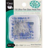 Dritz Ultra-fine Glass Head Pins 150/pkg-size 22