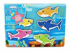 Cardinal Industries 6053347 Pinkfong Baby Shark Chunky Wooden Sound Puzzle -