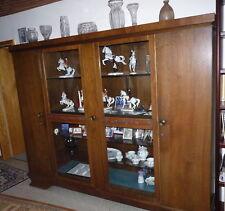 Bücherschrank - Schrank - Nußbaum - ca 1940 - Vitrinenschrank - Wohnzimmer