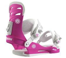 2016 NIB WOMENS UNION JULIET SNOWBOARD BINDINGS $180 S magenta pink white