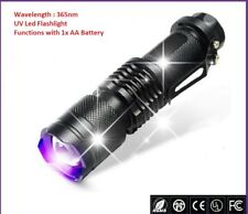 Mini Zoomable 365nm UV Torch, Money Checking, Glue, Resin Curing