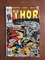 Thor #258 (1977) 8.0 VF Marvel Bronze Age Comic Book Newsstand Edition Jack Kirb