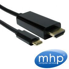 USB Adaptador De Hdmi A C 4K (USB-C teléfono móvil Tablet PC Laptop - > pantalla de TV) 3 M