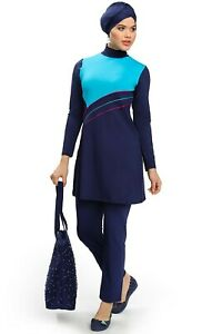 Women Islamic Muslim Full Cover Costumes Swimwear Burkini Beachwear 9206-02
