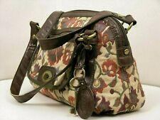 """FOSSIL shoulder bag tapestry """"JACOBEAN LONG LIVE VINTAGE"""" leather medium size"""
