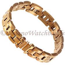 10mm Glam Rock High Quality Elegant Solid Link Rose Gold Ladies Band GBMBD3LSR
