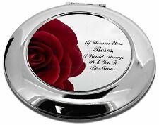 Rosa esposa,Novia Amor Emoción maquillaje Redondo Espejo Compacto Ch,Love-R4CMR