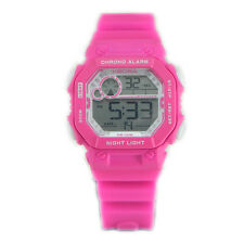 Orologio digitale da ragazza rosa cronografo sveglia luce - Ideale per palestra