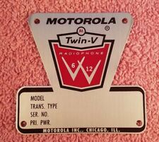 Motorola Blank Model Plate for Twin V Mobile and Ac Utility Fm Two-Way Radio