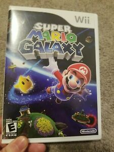 Nintendo Wii Super Mario Galaxy With Manual Tested Complete in box