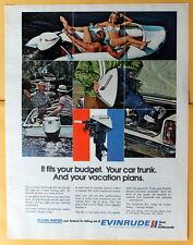 Vintage Magazine Print Ad 1972 Evinrude Outboard