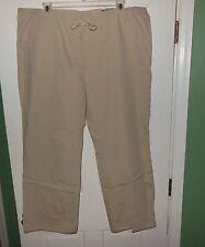 J.C. Penny St. Johns Bay Beige Khaki Pants Stretch Waist 30 inseam Plus Size 20W