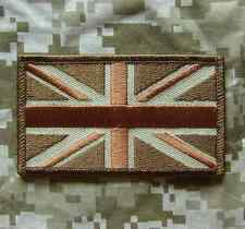 UNION JACK UK ARMY GREAT BRITAIN FLAG UK DESERT VELCRO® BRAND FASTENER PATCH