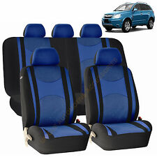 BLUE AIRBAG & SPLIT Bench SEAT COVERS 9pc SET for SATURN ION VUE