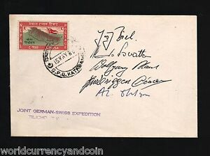 NEPAL GERMANY SWITZERLAND 1980 SWISS GERMAN MOUNT TILICHO EXPEDITION SIGN COVER