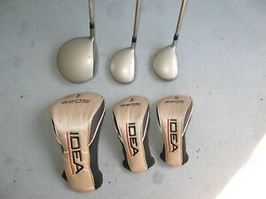 Adams Idea A3OS Set of Woods, Driver, 3 & 5 wood, with Grafalloy High Launch