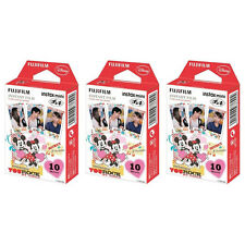 3 Packs 30 Photos Mickey and Friends FujiFilm Fuji Instax Mini Film Polaroid 7S