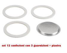 Set 12 Confezioni Con 3 Guarnizioni + Piastra Forata Per Caffettiera 3 Tazze moc