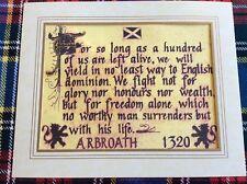Superb mounted 'Declaration of Scottish Independance' (Declaration Arbroath)1320