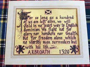 Declaration of (Arbroath) Scottish Independence1320, Bannockburn 1314,Braveheart