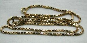 Nice Quality 9 carat Gold Box Link Neck Chain