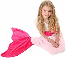 Mermaid Tail Blanket - Soft and Warm Polar Fleece Fabric Blanket, KIDS AGES 3-12