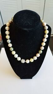 12mm Multi Color South Sea Shell Pearl Necklace 18'' AAA