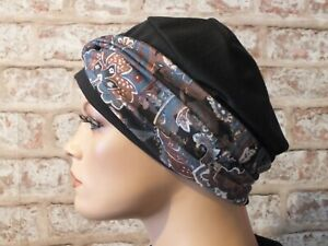 2 in 1 - Jersey Hat with head band for Cancer, Chemo, Hair Loss, Leukemia