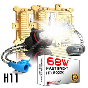 68W H11 H8 H9 6000K Heavy Duty Fast Bright AC HID Conversion Kit Headlight Fog