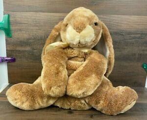 2001 Animal Alley Brown Tan Bunny Rabbit Stuffed Plush Toys R Us Gently Used