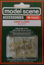 Modelscene N 5177 - Sheep & Lambs (N) Railway Models