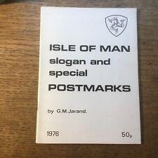 """Isle of Man Slogan & Special Postmarks"" 1976 22pp Booklet"