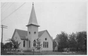 H46/ Piper City Illinois RPPC Postcard c1910 Methodist Church Building