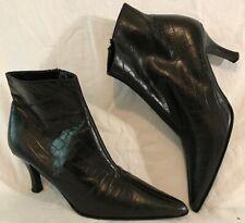 Carvela Black Ankle Leather Lovely Boots Size 4 (45Q)