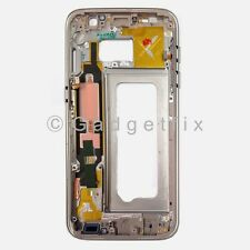 US OEM Gold Samsung Galaxy S7 G930A G930T Middle Housing Frame Bezel Mid Chassis