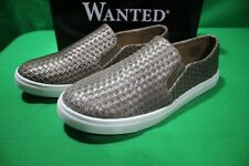 Wanted Shoes Women's Boca Tan Woven Slip On Fashion Sneaker Size 10 New in Box
