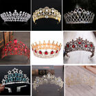 Bridal Princess Rhinestone Pearl Crystal Tiara Prom Wedding Crown Veil Headband