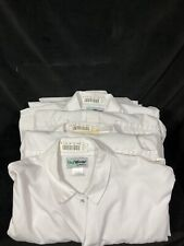 Food Service Jacket Set Of 5 48R Xl Butcher Meat Cutter Coat White Polyester
