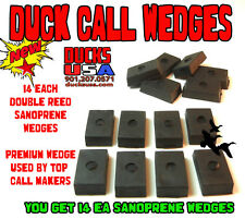 Duck Call Insert Wedges Sanoprene 14-PACK!! From Top Call Maker Dbl Reed Wedges